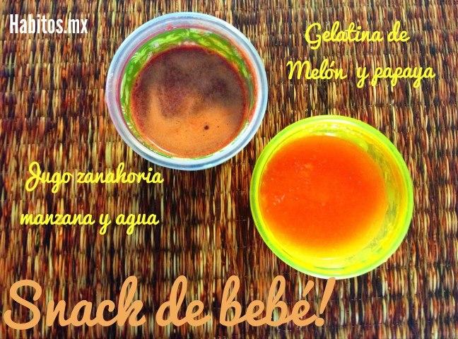 Bebés - gelatina de melón y papaya