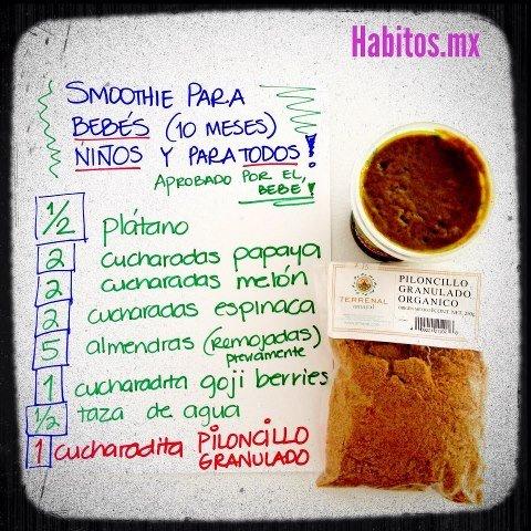 Bebés - receta smoothie para bebés
