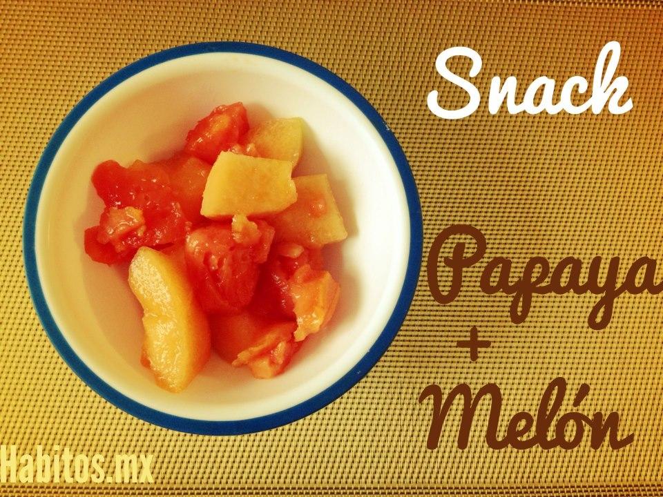 Bebés - snack papaya con melón