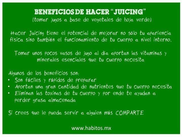 Juicing - beneficios del juicing