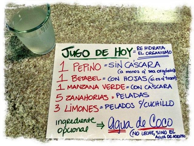 Juicing - jugo para rehidratar el organismo