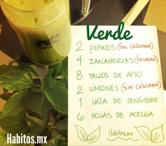 Juicing - receta jugo verde