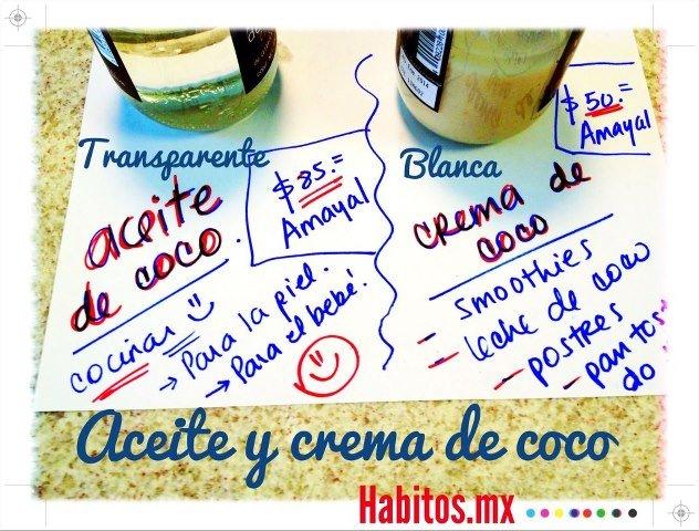 Recetas - Diferencia aceite de coco y crema de coco