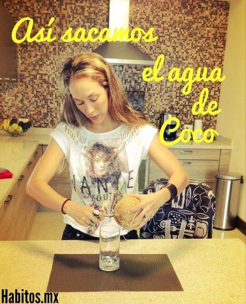 Recetas - sacar agua de coco