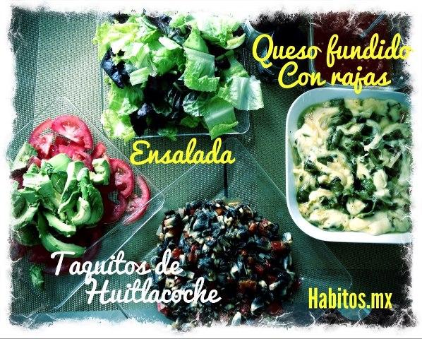 Recetas - Taquitos de huitlacoche