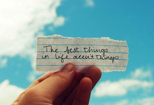 Spiritual path - las mejores cosas de la vida no son cosas