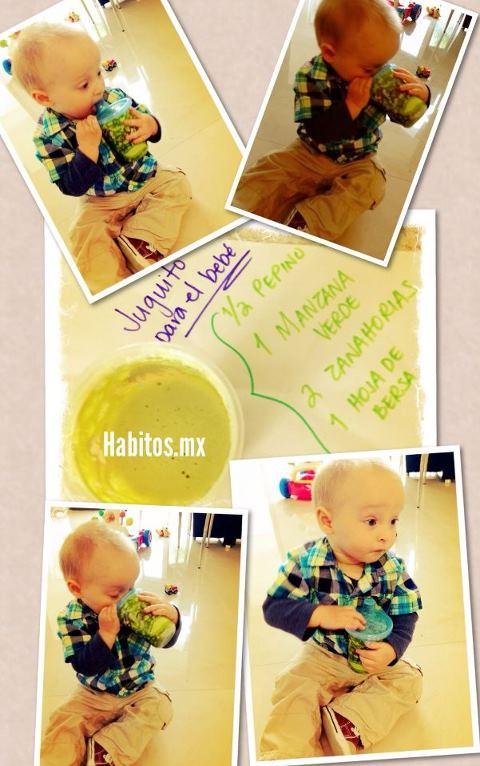 Bebés - juguito manzana y berza
