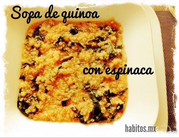 Bebés - quinoa con espinacas