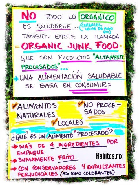 Buenos hábitos - productos orgánicos