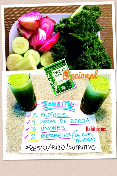 Juicing - jugo con Wheat grass
