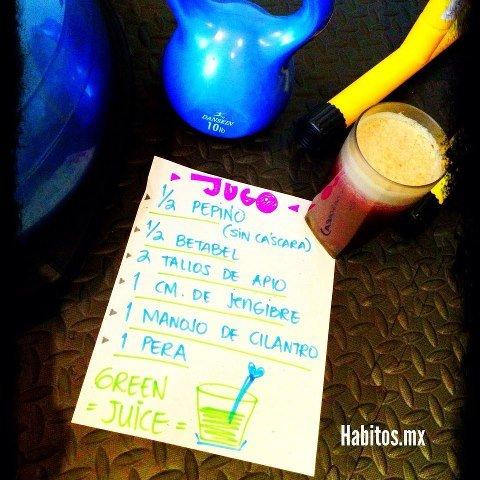 Juicing - jugo verde para entrenar
