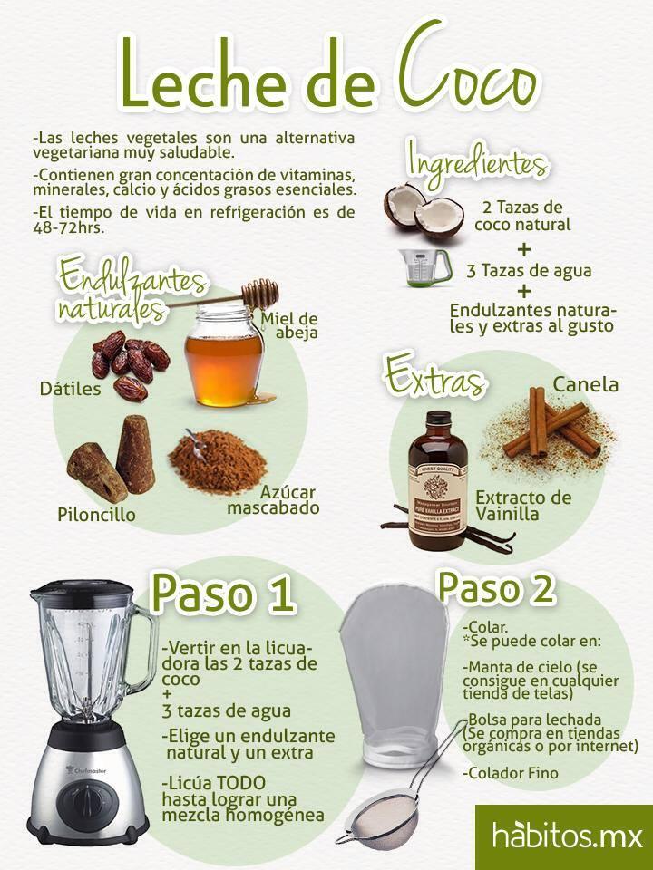 Hábitos Health Coaching   Leche de coco