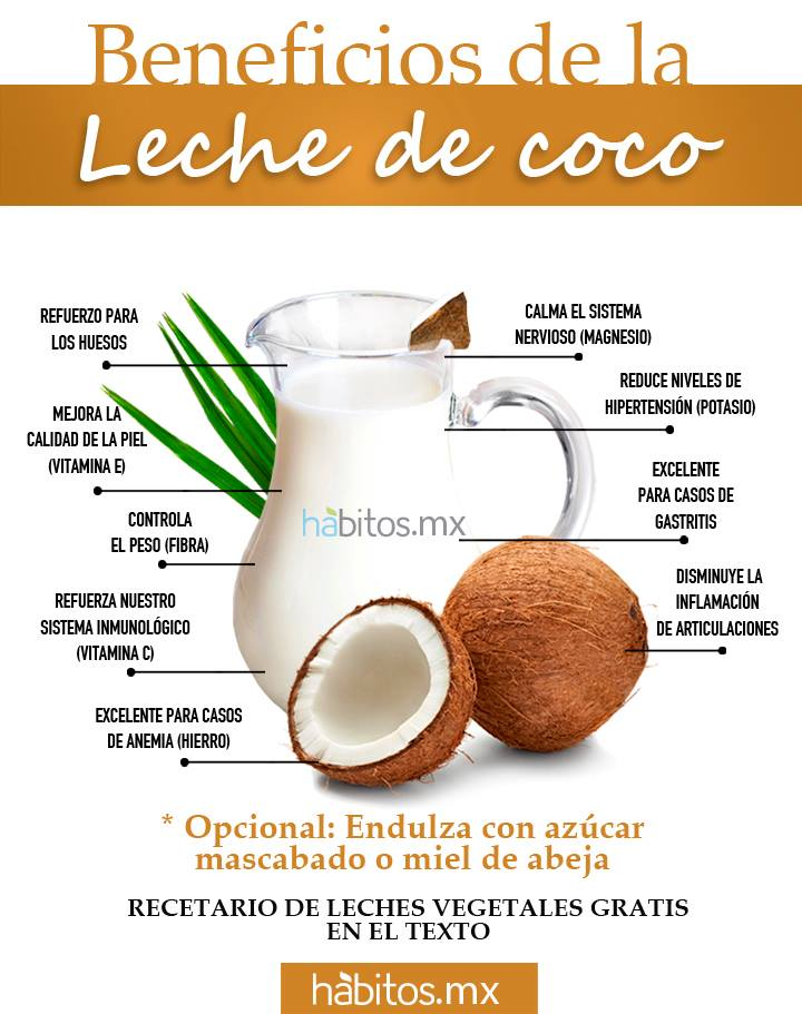 Hábitos Health Coaching | BENEFICIOS DE LA LECHE DE COCO