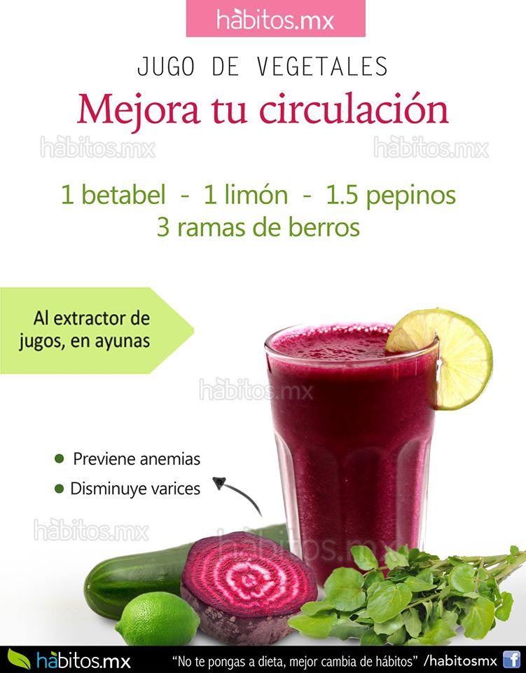 H bitos health coaching jugo de vegetales mejora tu circulaci n - Alimentos para la circulacion ...