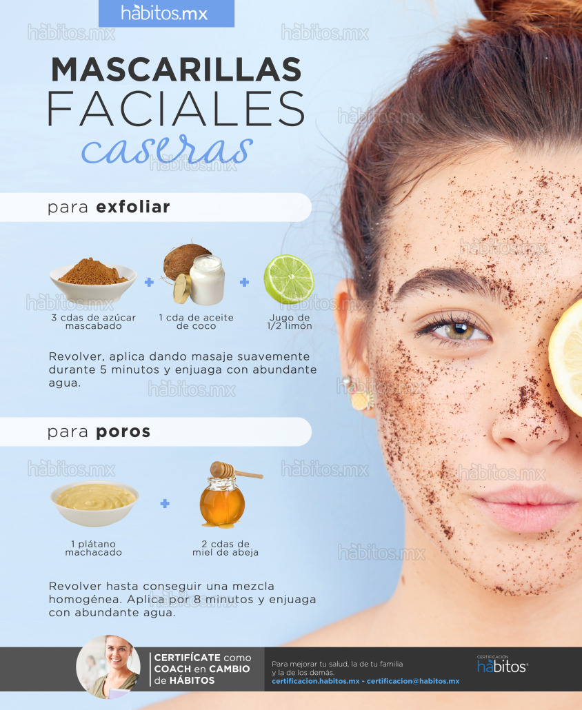Mascarillas Faciales Caseras Exfoliar Y Poros Hábitos Health Coaching