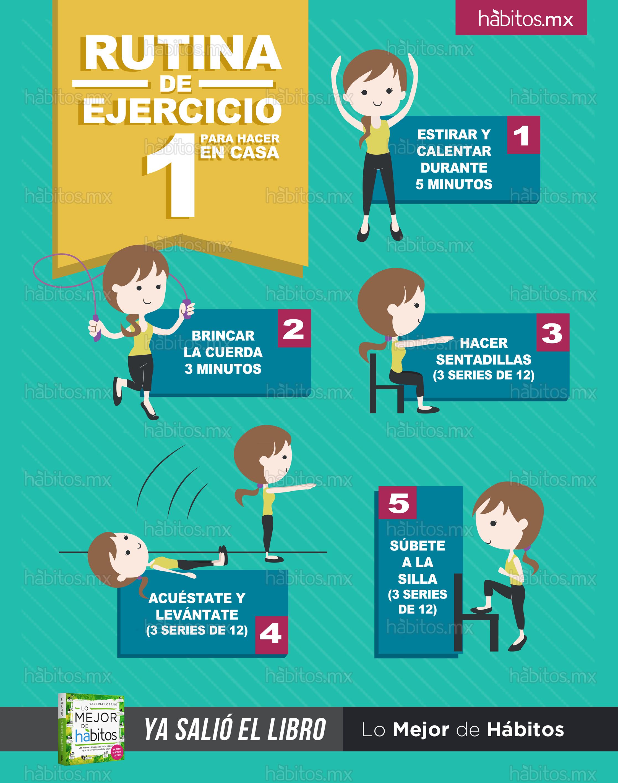 H bitos health coaching rutina de ejercicio 1 para hacer en casa - Aplicaciones para hacer ejercicio en casa ...