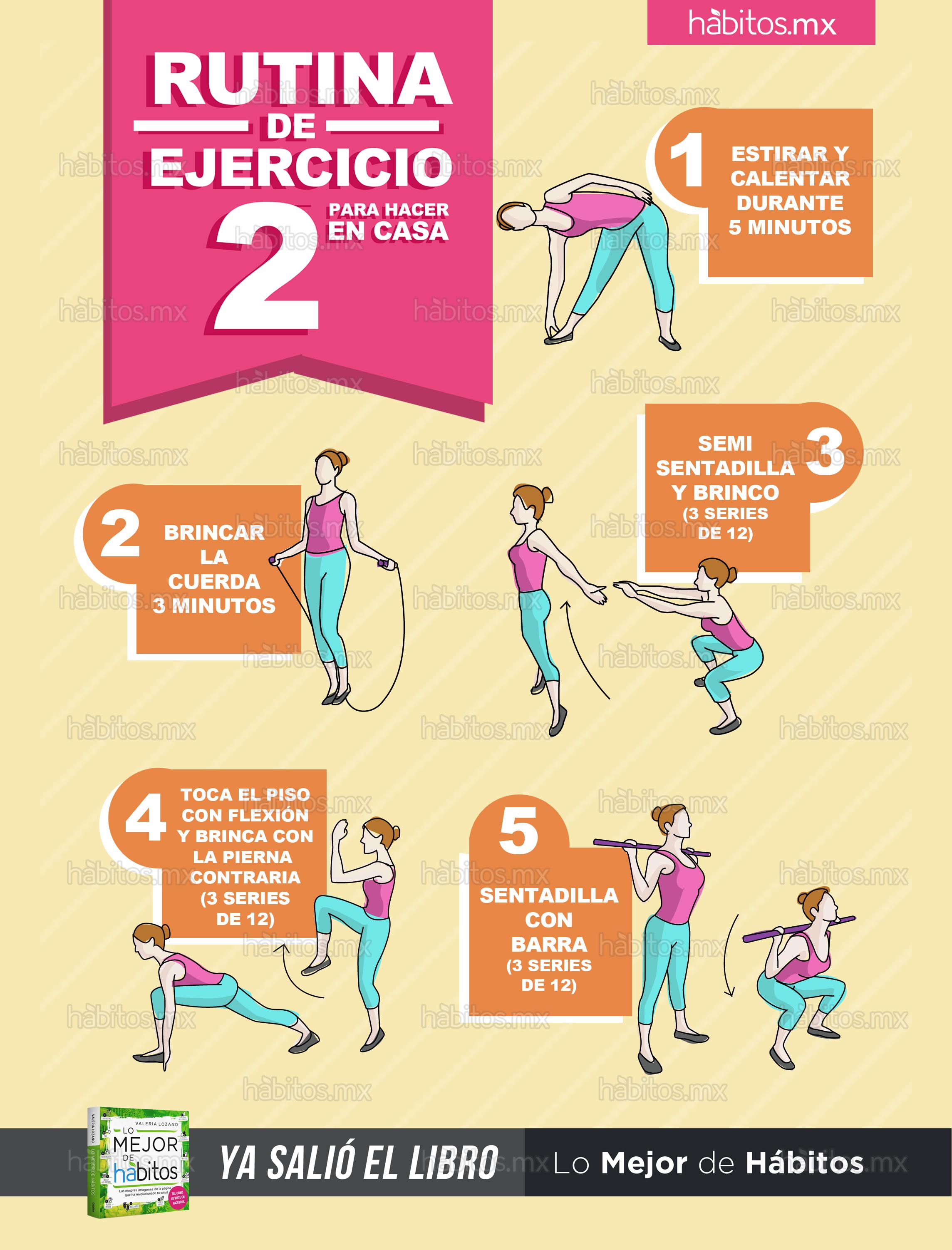H bitos health coaching rutina de ejercicio 2 para hacer en casa - Aplicaciones para hacer ejercicio en casa ...