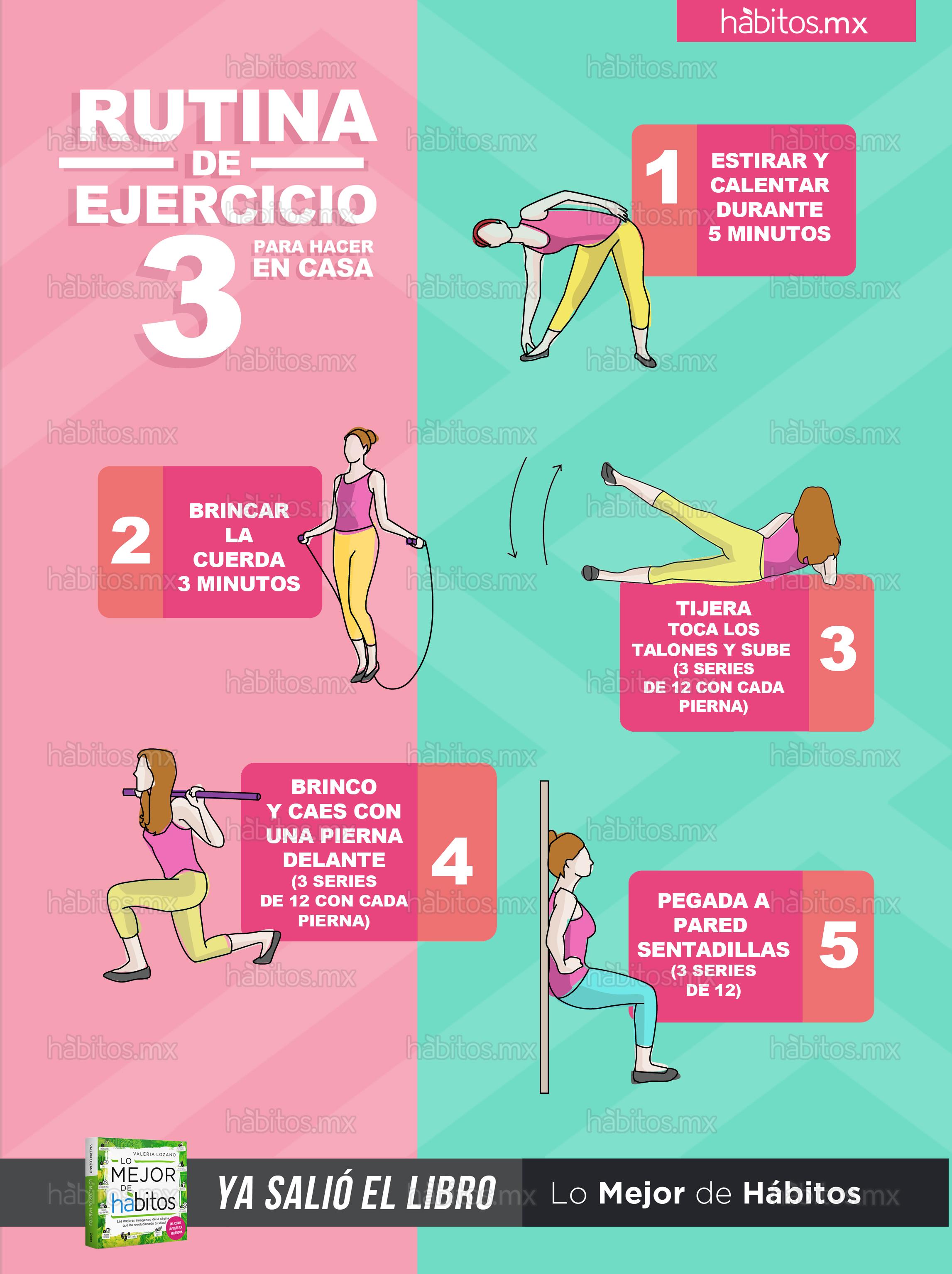 H bitos health coaching rutina de ejercicio 3 para hacer en casa - Aplicaciones para hacer ejercicio en casa ...