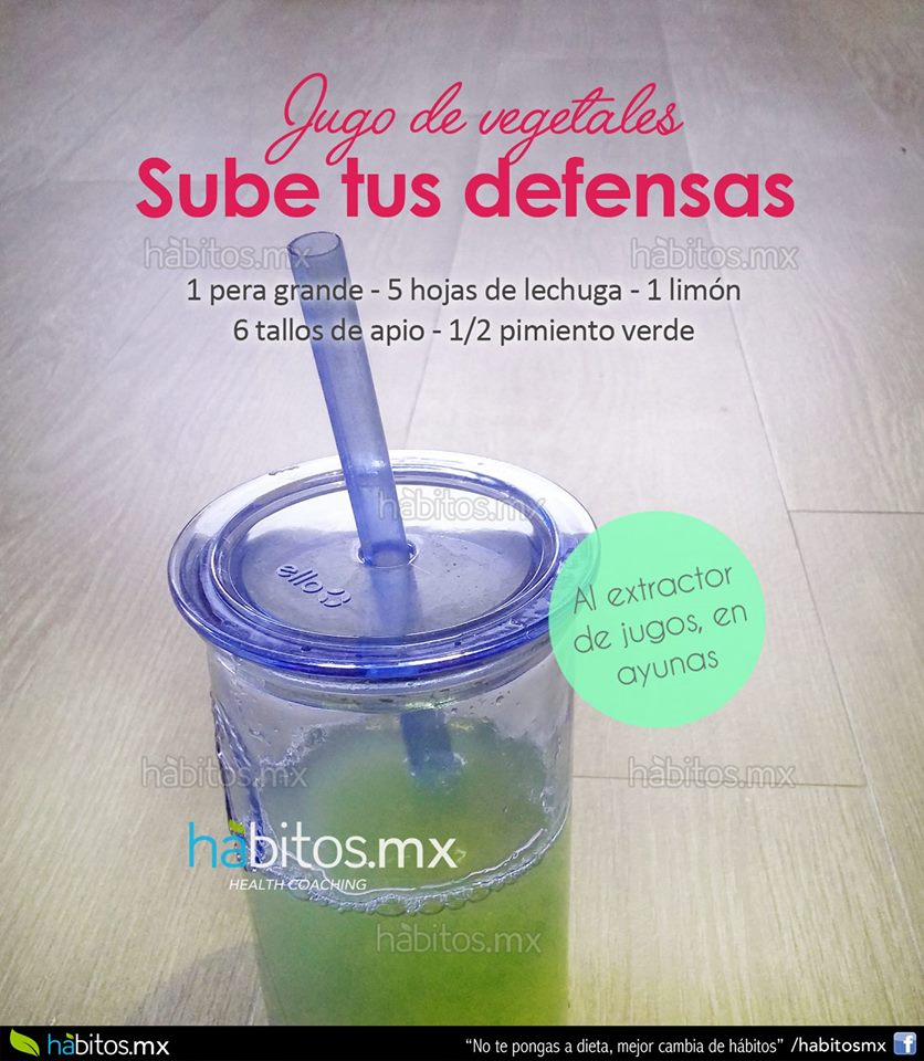 H bitos health coaching jugo de vegetales sube tus defensas - Alimentos para subir las defensas ...