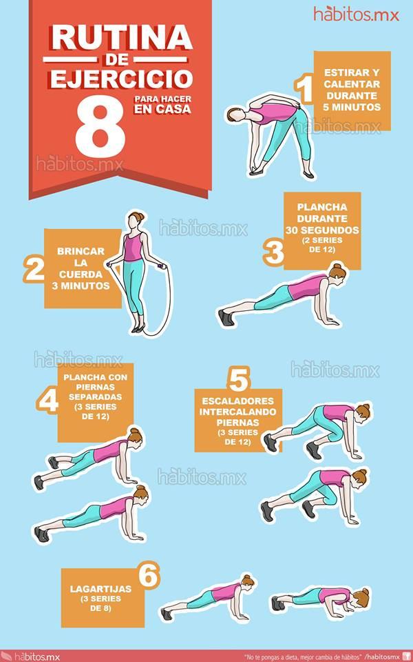H bitos health coaching rutina de ejercicio para hacer - Ejercicios de gimnasio en casa ...