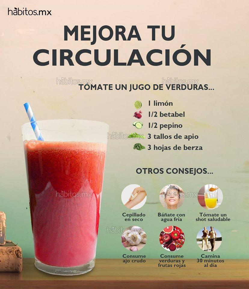 H bitos health coaching jugo de verduras para mejorar la circulaci n - Alimentos para la circulacion ...