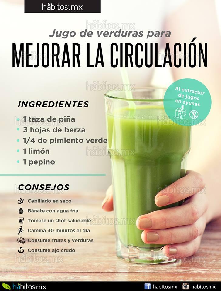 H bitos health coaching jugo de verduras para mejorar la circulaci n y disminuir varices - Alimentos para la circulacion ...